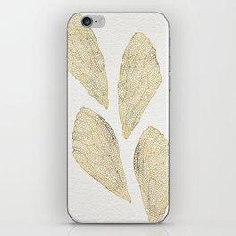 Cicada Wings in Gold iPhone Skin