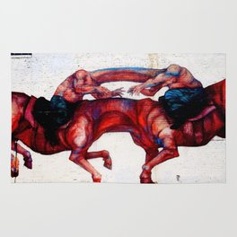 Headless Horsemen Graffiti Rug