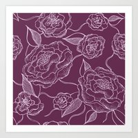 floral pattern Art Prints featuring Floral Pattern by Vickn