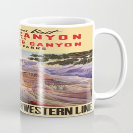 Vintage poster - Grand Canyon Coffee Mug