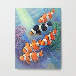 Clownfish Paradise Metal Print