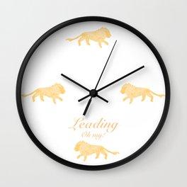 Leading - Oh my! Wall Clock