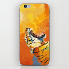 Tiger in the morning iPhone Skin