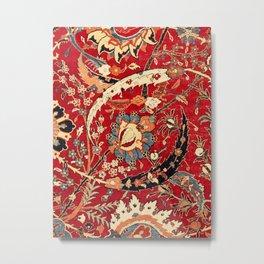 Safavid 17th Century North Indian Mughal Rug Print Metal Print