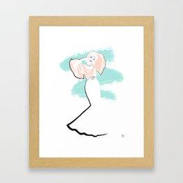 'Haiku' Fashion Illustration Framed Art Print