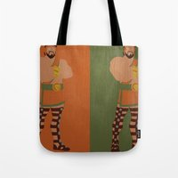 hercules Tote Bags featuring Hercules by Young Jake