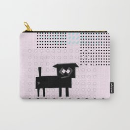 ODD MIKEY Stuff - Doggy with Pink eyes Carry-All Pouch