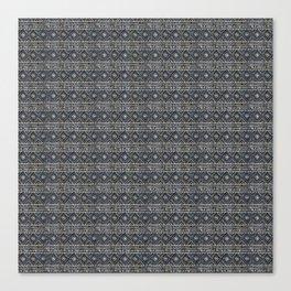 African Tribal Blockprint // Navy & Eggshell Canvas Print