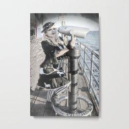 """Gothic Lolita Stalker"" by Vamplified Metal Print"