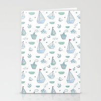 ships Stationery Cards featuring ships by Dlinnaya