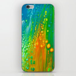 Aqua orange iPhone Skin