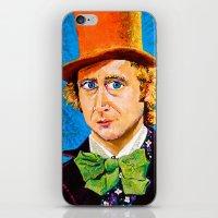 willy wonka iPhone & iPod Skins featuring Wonka by Jordan Soliz