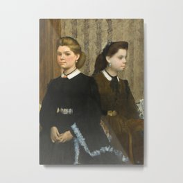 The Bellelli Sisters (Giovanna and Giuliana Bellelli) Metal Print
