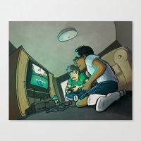 glitch Canvas Prints featuring Glitch by Drake Sauer