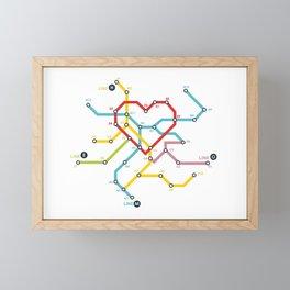 Home Where The Heart Is Framed Mini Art Print