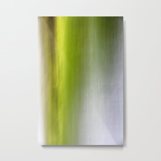Abstract Reedbed Metal Print