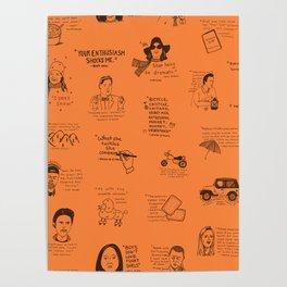 Gilmore Girls Quotes in Orange Poster