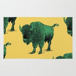 bison pattern Rug