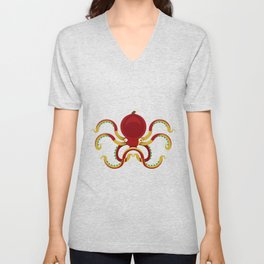 The fisherman and the octopuss Unisex V-Neck