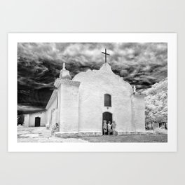 Church Black and White Art Print