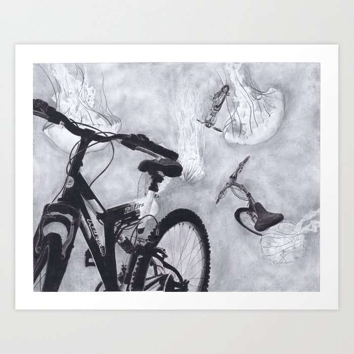Risd Bike Drawing Art Print By Driptips Society6