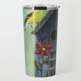 Welcome Goldfinch Travel Mug