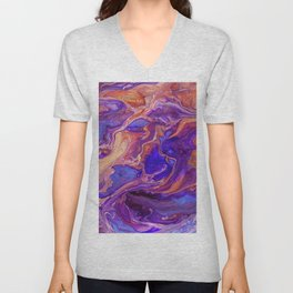 Fluid Color Unisex V-Neck