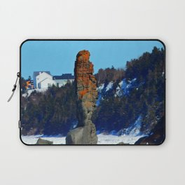 Stone Tower by the Frozen Sea Laptop Sleeve