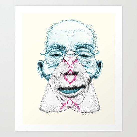 Mothbums Portrait N°9 Art Print