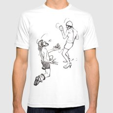 Soulmate Shuffle. MEDIUM Mens Fitted Tee White