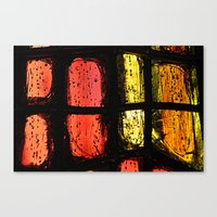 stained glass Canvas Prints featuring Stained glass by Pirmin Nohr