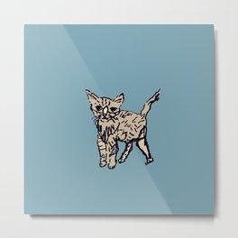 Animal Series: Kitty Curious Metal Print