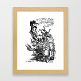 Can't Hold A Grudge Framed Art Print