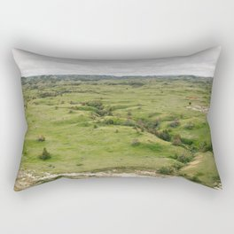 North Dakota Fields of Green Rectangular Pillow
