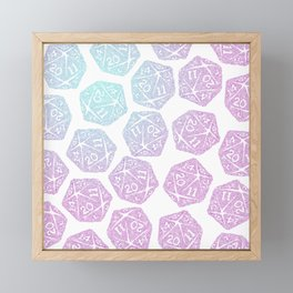 d20 pattern dice gradient pastel Framed Mini Art Print