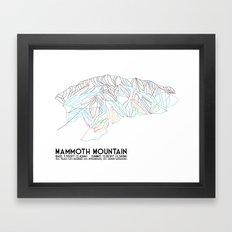 Mammoth Mountain, CA - Minimalist Trail Map Framed Art Print