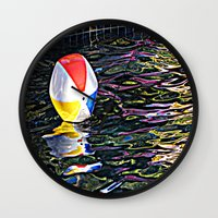 pool Wall Clocks featuring Pool by Renee Trudell