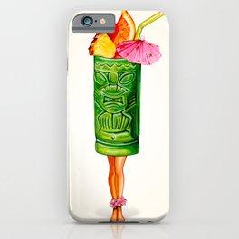 Tiki Cocktail Pin-Up - Tiki Mug iPhone Case