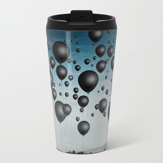 In Limbo - black balloons Metal Travel Mug