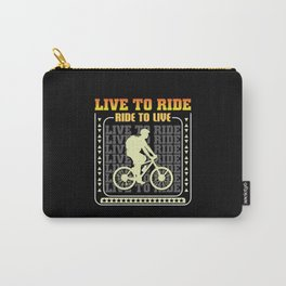 Bicycling Sport Hobby Shirt Design Carry-All Pouch