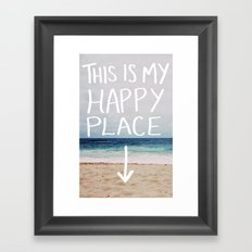 My Happy Place (Beach) Framed Art Print