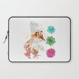Fire: Fox with Succulents Laptop Sleeve