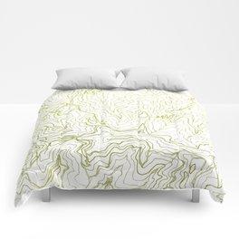 Secret places I - handmade green map Comforters
