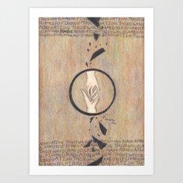 Abnegation. Art Print