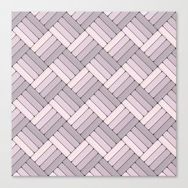 Pattern Play in Pink and Gray Canvas Print