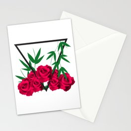 Red Roses beauty of Earth Stationery Cards