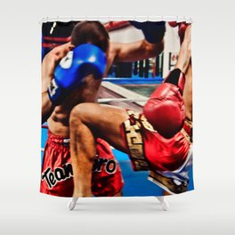 Fight : Attack Shower Curtain