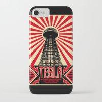 tesla iPhone & iPod Cases featuring Tesla by Octavia Soldani