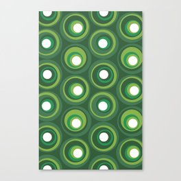 Signet Studio Geometric Circle Pattern - Green Canvas Print