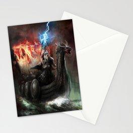 Dragon Viking Ship Stationery Cards